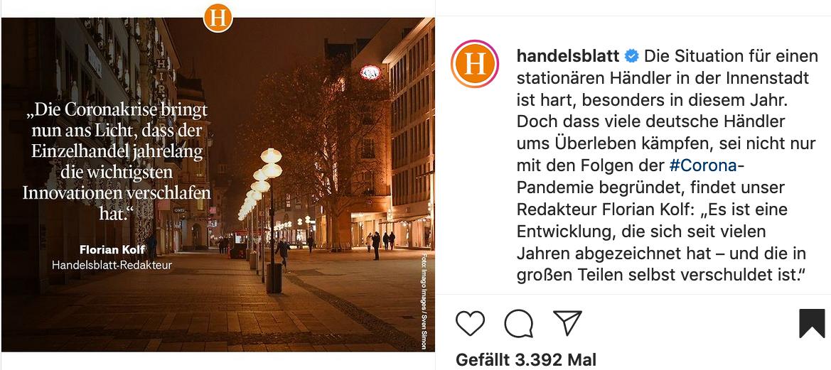 Handelsblatt auf Instagram